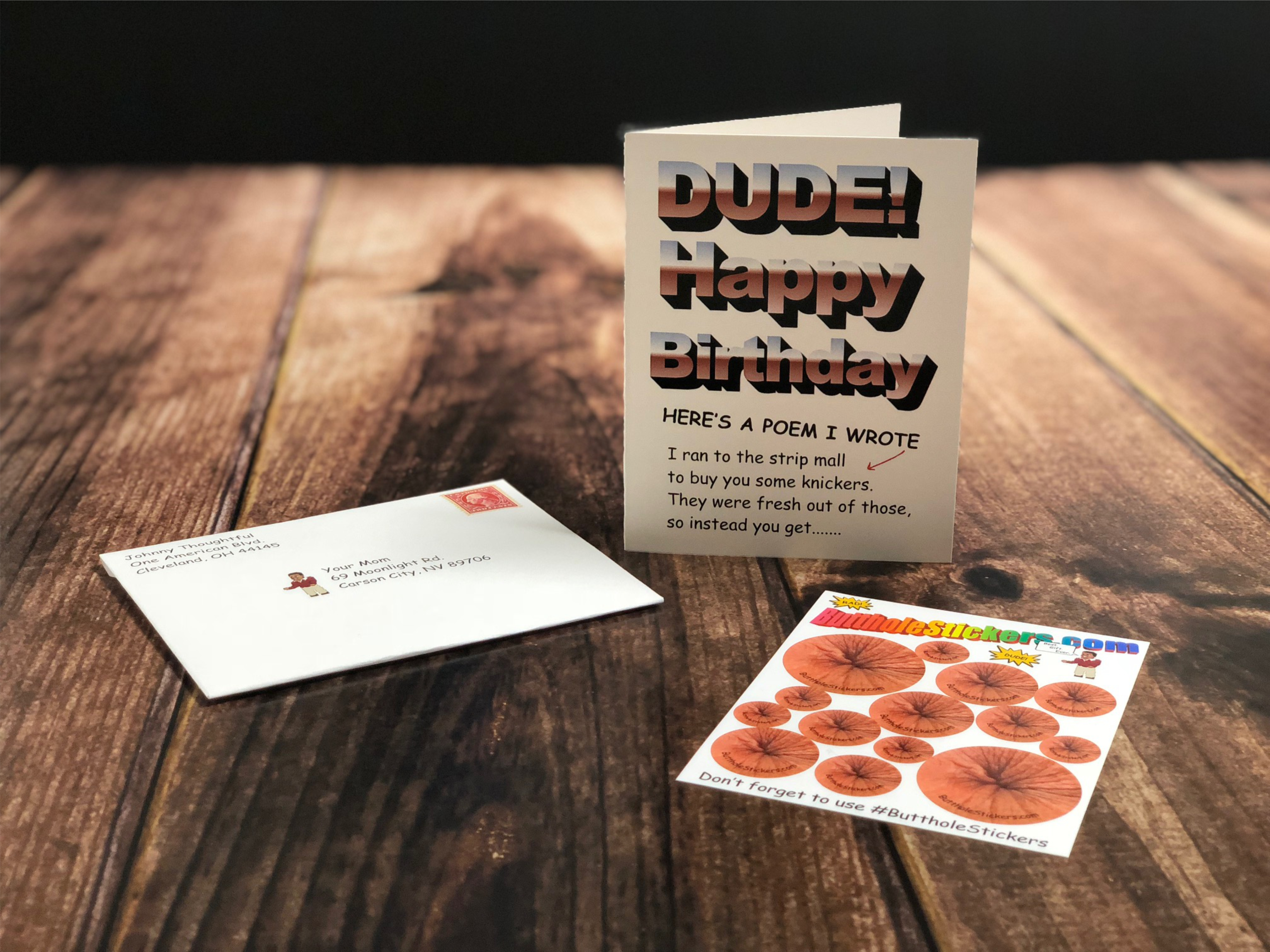 Butthole Stickers Card 1