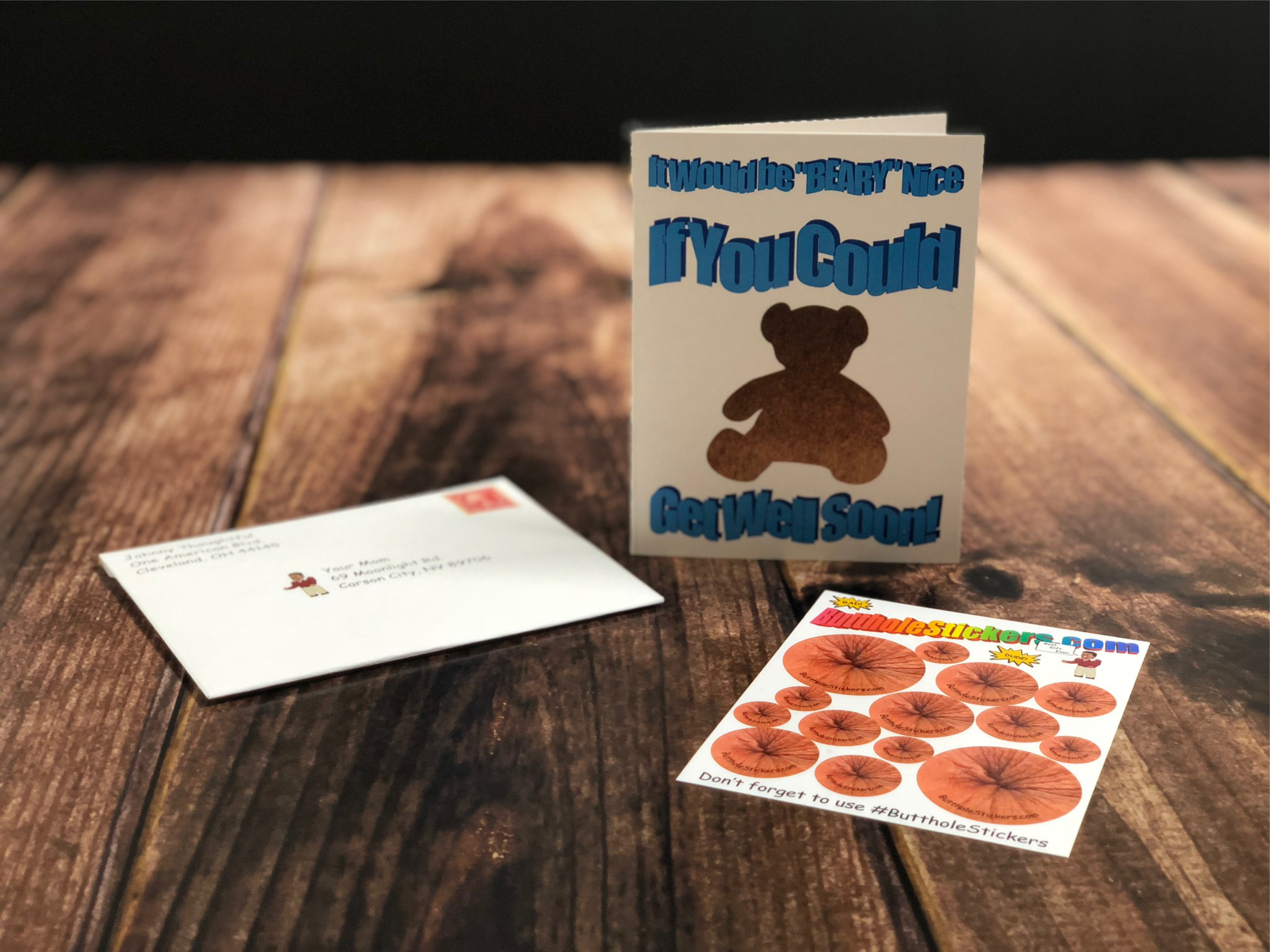 Butthole Stickers Card 2