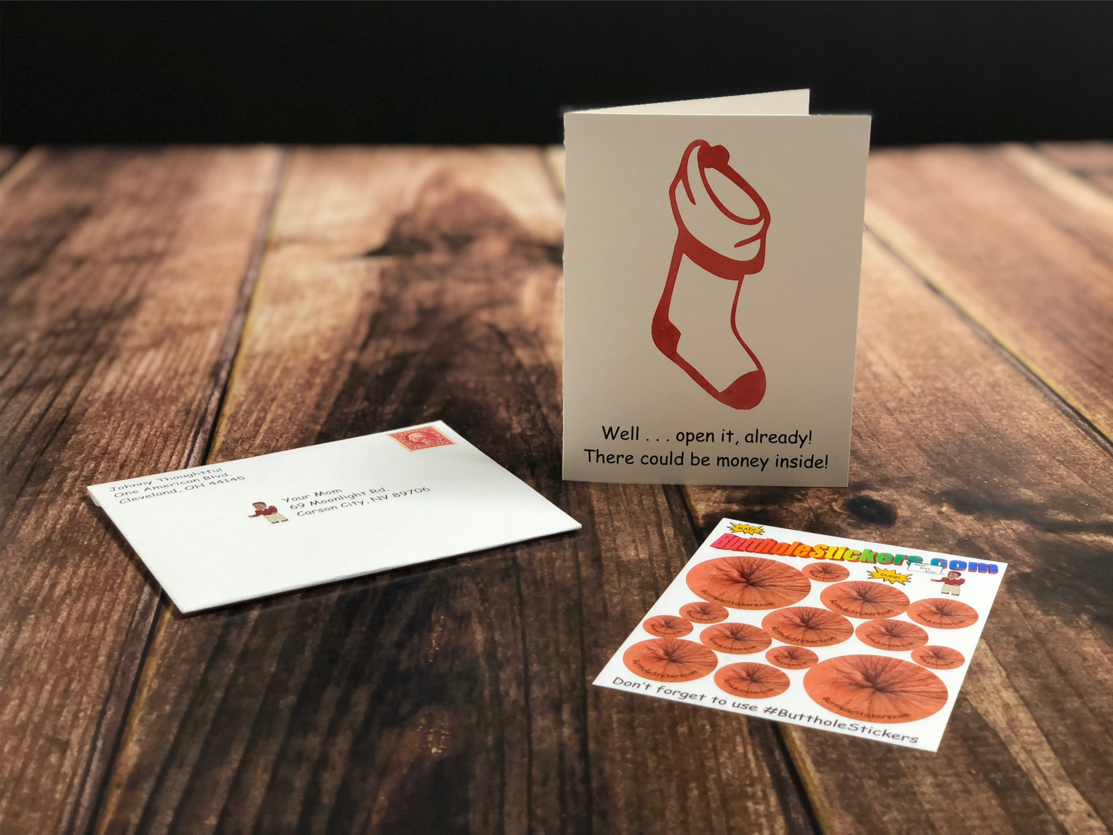 Butthole Stickers Card 7