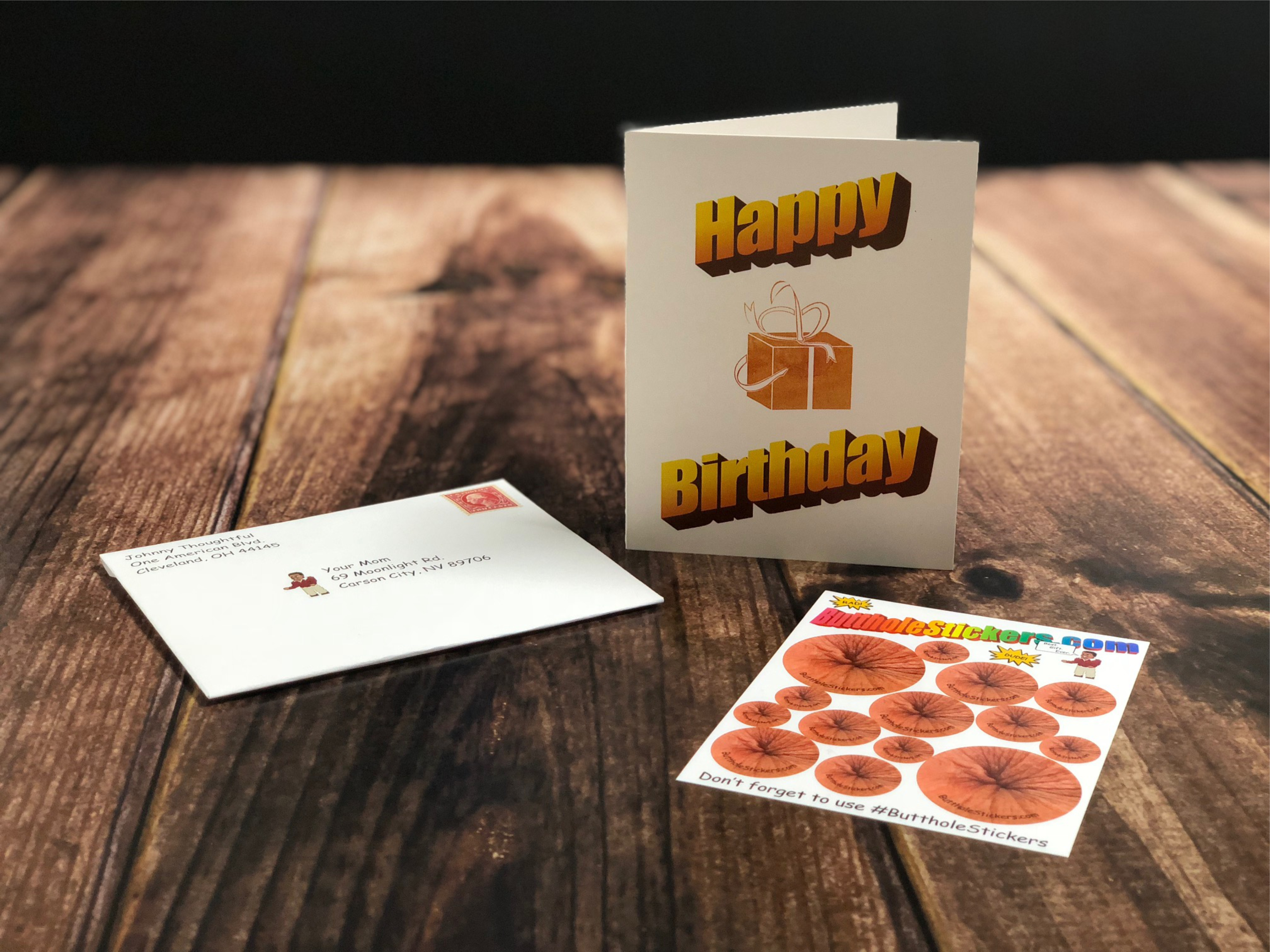 Butthole Stickers Card 8