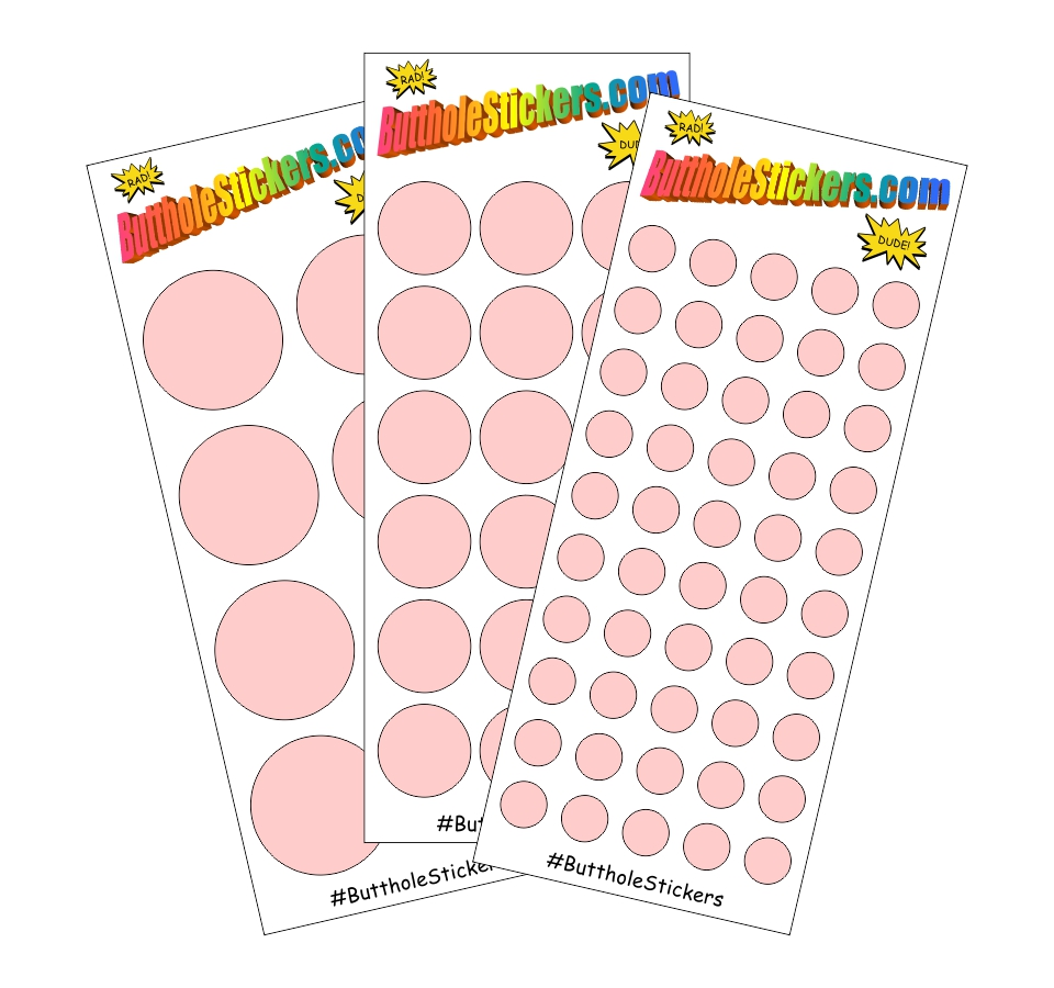 Buttload of Butthole Stickers